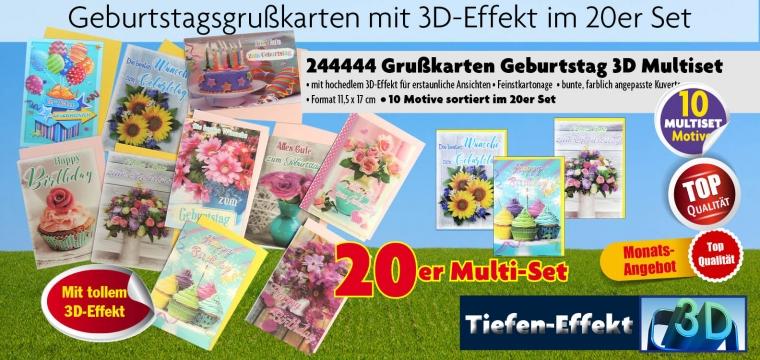 Geburtstag 3D-Karten