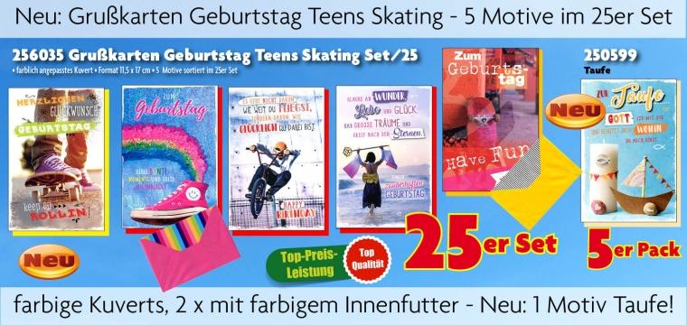 Grußkarten Teens Skating