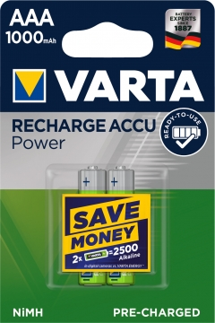 Varta Akku Micro Ready To Use 1000 mAh Blister/2