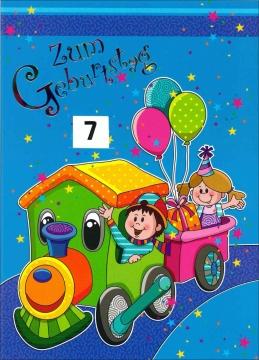 Grußkarte Skala Geburtstag Drehzahl Kinder Eisenbahn Set/5