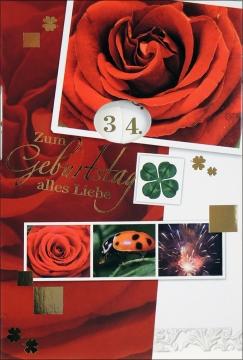Grußkarten Geburtstag Harmonie drehbar Set/40