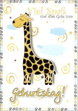 Grußkarte Skala Kindergeburtstag Giraffe Set/5