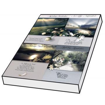 Grußkarten Trauer Sprüche Set/100