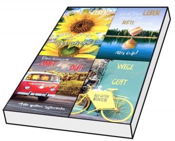 Grußkarten Geburtstag Dolce Vita Set/100