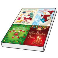 Grußkarten Weihnachten Grafique Set/100