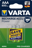 Varta Akku Micro AAA Ready To Use 800 mAh Blister/2