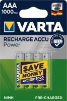 Varta Akku Micro AAA Ready To Use 1000 mAh Blister/4