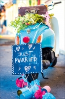 Grußkarte Skala Hochzeit Just Married Set/5