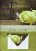 Grußkarte Skala Trauer Geldkuvert Für die Grabpflege Set/5
