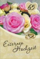 Grußkarte Skala Eiserne Hochzeit Set/5