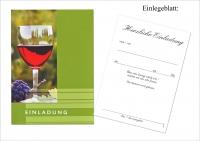 Einladung Allgemein Rotwein Set/5