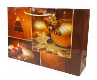Geschenktaschen Weihnachten Groß quer Romantik Set/10
