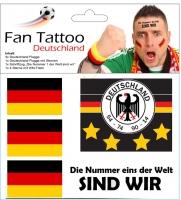 Abzieh-Tattoo Deutschland Set/6
