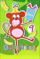 Grußkarte Skala Geburtstag Drehzahl Kinder Affe Set/5