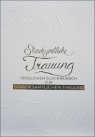 Grußkarte Skala Standesamtliche Trauung Set/5