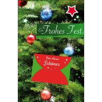 Grußkarten Weihnachten Nostalgie mit Geldkuvert Set/40