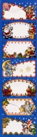 Geschenkaufkleber Happy Christmas mit Goldfolienprägung Set/25