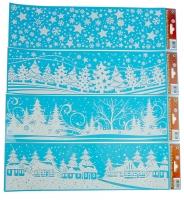 Fensterbilder Weihnachten Winterlandschaft mit Glitzer Set/25