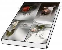 Grußkarten Trauer Patina Set/100