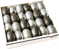 Eiknäuel Ringelband Silber Display/24