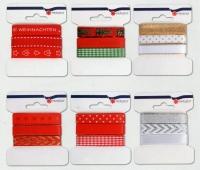 Seidenband Weihnachten Variety Set/6