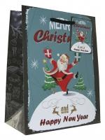 Geschenktaschen Weihnachten Vintage mittel Set/20