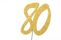 Jubiläumszahlen Jahreszahl 80 gold Stück/1