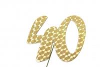 Jubiläumszahlen Jahreszahl 40 gold Stück/1