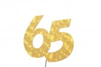 Jubiläumszahlen Jahreszahl 65 gold Stück/1