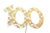 Jubiläumszahlen Jahreszahl 100 gold Stück/1
