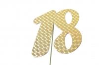 Jubiläumszahlen Jahreszahl 18 gold Stück/1
