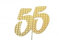 Jubiläumszahlen Jahreszahl 55 gold Stück/1