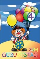 Grußkarte Skala Geburtstag Drehzahl Kinder Clown Set/5