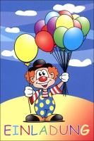Einladung Allgemein Kinder Clown Set/5