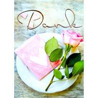 Danksagung Allgemein Rosa Rose Set/5