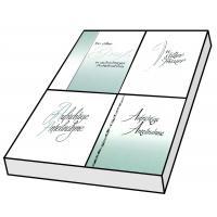 Grußkarten Trauer Barcelona Schrift Set/100