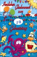 Grußkarten Geburtstag Kinder Drehbar Set/30