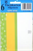 Tisch- Buffet- und Informationskarten Allgemein Set/5