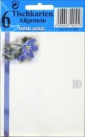Tisch- Buffet- und Informationskarten Blume Set/5