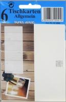 Tisch- Buffet- und Informationskarten Sekt Set/5