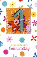Grußkarte Skala Kindergeburtstag 1. Geburtstag Set/5