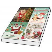 Grußkarten Weihnachten Weihnachtsmann Set/100
