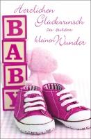 Grußkarten Zum Baby Kleiner Spatz Set/30