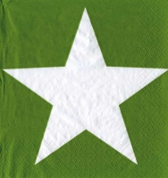 Servietten ti-flair Bright Star Green 33 x 33 cm Pack/1 MLA