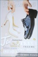 Grußkarte Skala Hochzeit Schuhe Set/5