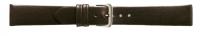 Uhrenarmband Klassik Leder ohne Naht dunkelbraun 18 mm Silberschließe