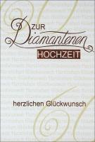 Grußkarte Skala Diamanthochzeit Eleganz Set/5