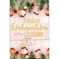 Grußkarten Weihnachten Heimelig Set/100