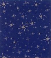 Maxirolle Sternenhimmel blau/silber Stück/1