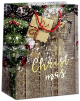 Geschenktaschen Weihnachten Merry Christmas  mittel Set/20